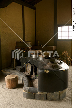 江戸時代の古民家の台所 1608483