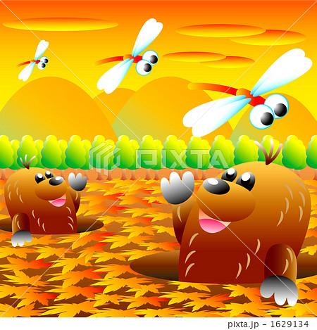 秋の風景のイラスト素材 1629134 Pixta