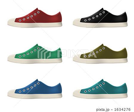 ズック靴 シューズ 靴のイラスト素材 [1634276] , PIXTA