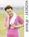 若い女性 ジョギング スポーツの写真 1636204