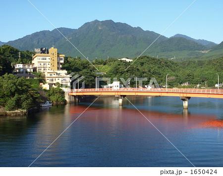 屋久島の安房川と安房橋(まんてん橋) 1650424