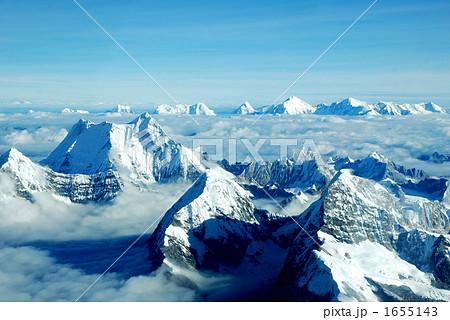 飛行機からのヒマラヤ山脈空撮 1655143