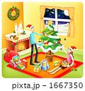 夫婦 クリスマス カップルのイラスト 1667350