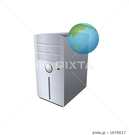 WEBサーバーのイラスト 1676617