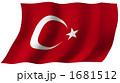 トルコ共和国 国旗 旗のイラスト 1681512