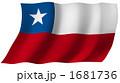 旗 国旗 チリのイラスト 1681736