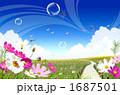風景 花畑 野原の写真 1687501