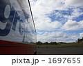 バス 草原 雲の写真 1697655