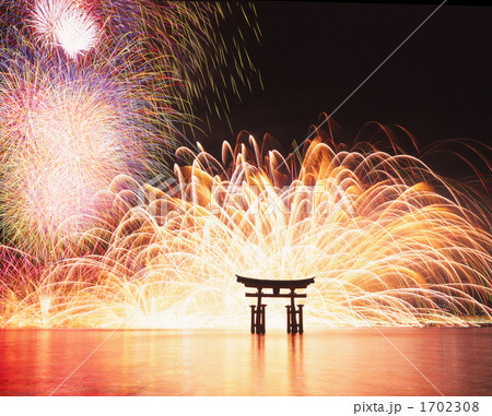 宮島の花火大会 1702308
