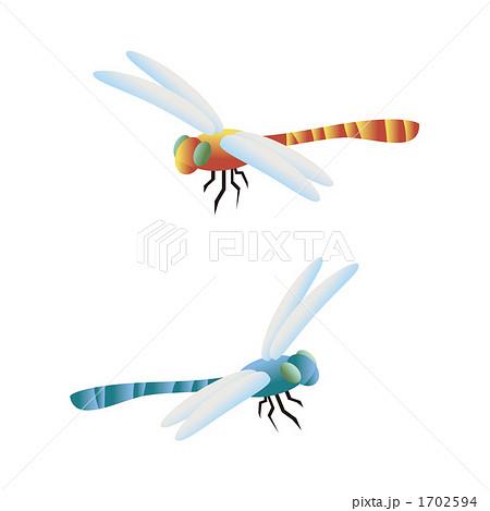 アカトンボ 赤蜻蛉 イラストのイラスト素材
