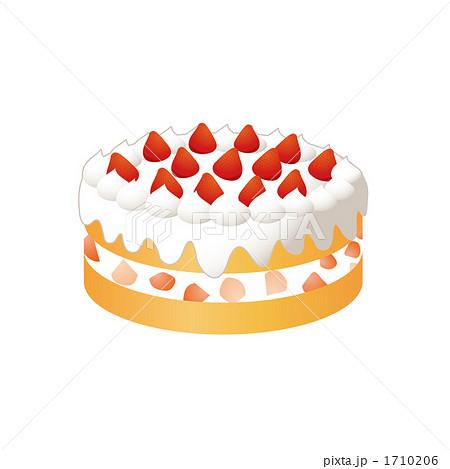 苺のショートケーキのイラスト 1710206