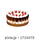 焼き菓子 チョコレートケーキ ホールケーキのイラスト 1710479