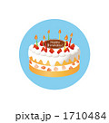 焼き菓子 誕生日ケーキ ホールケーキのイラスト 1710484