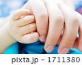 赤ちゃんとお父さんの手 1711380