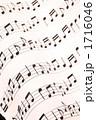 五線紙 音符イメージ 楽譜イメージの写真 1716046