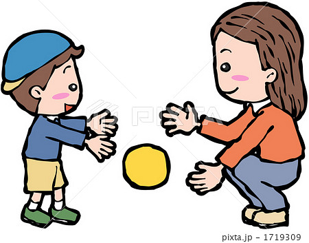イラスト 幼児 イラスト 素材 : イラスト素材: ボール遊び