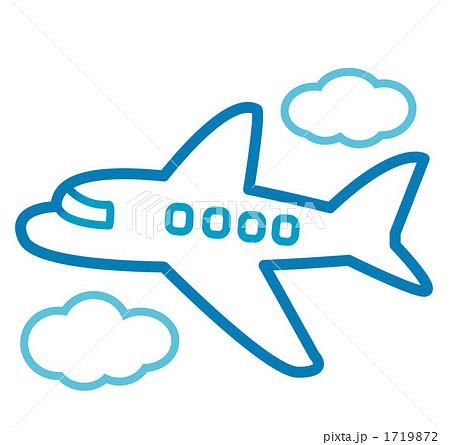 空飛ぶ飛行機のイラスト素材 ...