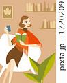 本を読む女性イラスト 1720209