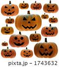 ハロウィンのカボチャランタンいっぱい 1743632