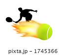 炎 火炎 球技のイラスト 1745366