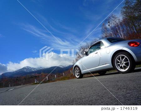 コペンを出迎える冬山へのドライブ 1746319
