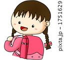 小学生 ランドセル 女子のイラスト 1751629
