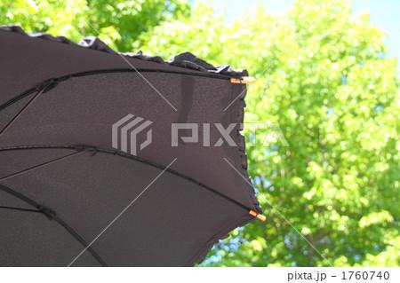 晴天の日差しと日傘 黒色 1760740