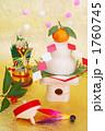 迎春 かがみもち 正月イメージの写真 1760745
