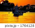 乗り物 夕焼け 船舶の写真 1764128