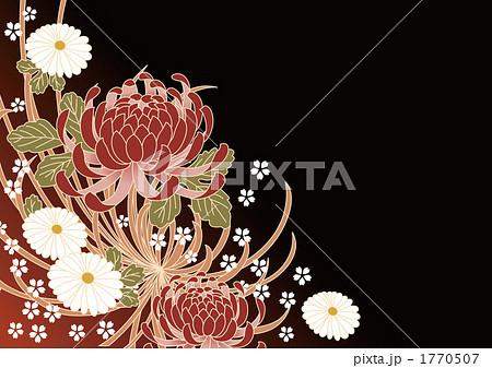 菊の和柄模様のイラスト素材 ... : 和柄 紙 : すべての講義
