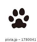 猫の足あとのイラスト 1780041