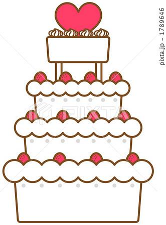 ウエディングケーキ ウエディングケーキ イラスト 無料  ウエディングケーキのイラスト .