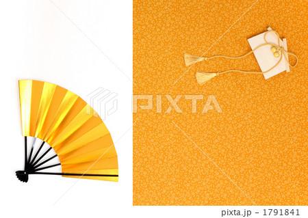 金色の扇子と絵馬 横 風呂敷バック 1791841