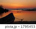 入江 夕焼け 風景の写真 1795453
