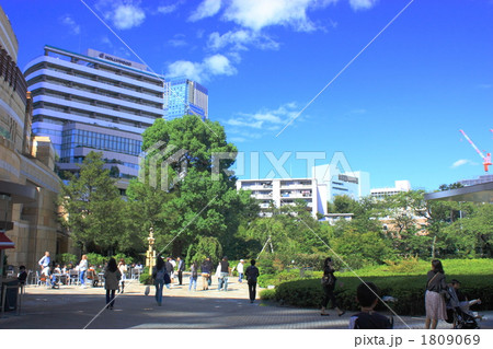 公園のある都会の風景 1809069