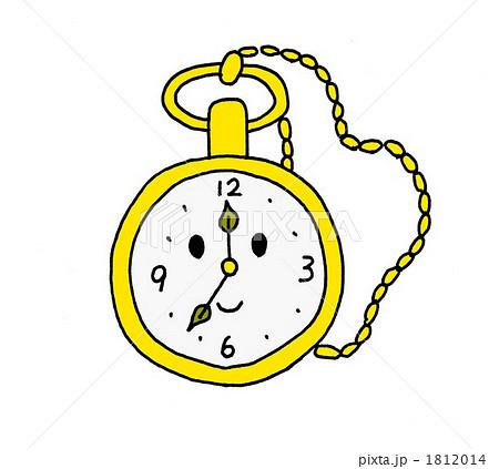 ... : 懐中時計 時計 針のイラスト