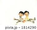 家族 夫婦 座るの写真 1814290