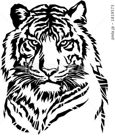虎 上半身切り絵のイラスト素材 1819573 Pixta