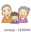 おじいちゃん おばあちゃん 祖母のイラスト 1836846