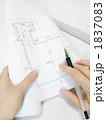 設計図 製図 図面の写真 1837083