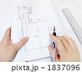 設計図 製図 図面の写真 1837096
