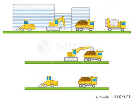 1837371. 土木作業 工事風景 建設会社のイラスト