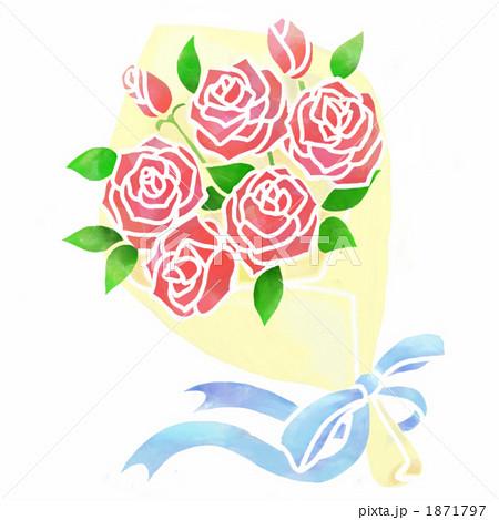 バラの花束のイラスト素材 1871797 Pixta