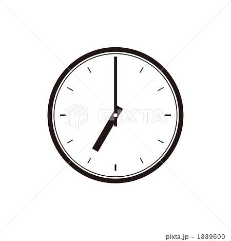イラスト素材: 時計の文字盤、7 ...