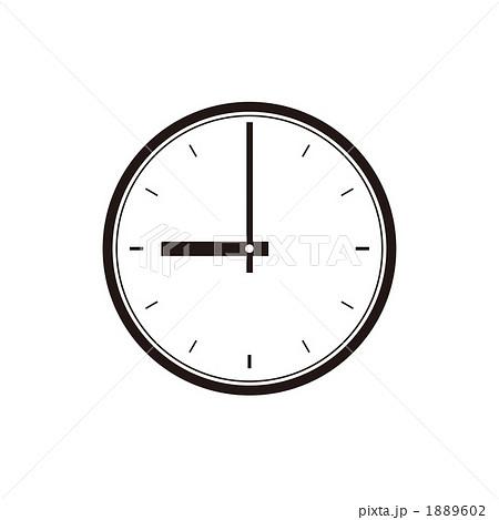 時計の文字盤、9時のイラスト ... : 時計 文字盤 イラスト : イラスト
