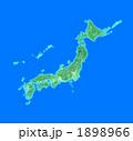 全日本 日本列島 日本地図のイラスト 1898966