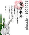 年賀状2011年 うさぎ 1904091