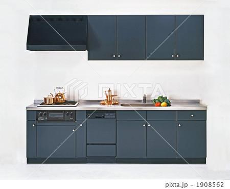 チャコールグレーI型システムキッチン 1908562
