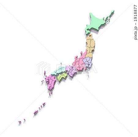 ... 区分の日本地図/都道府県表示 : 都道府県 区分 : 都道府県