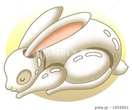 ウサギの置物.3 1950901